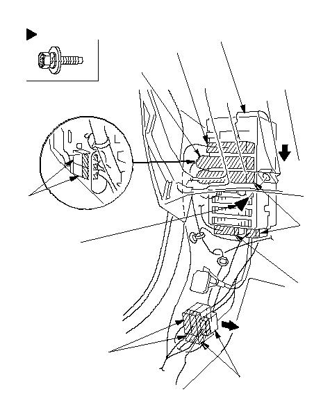 Расположение фиксаторов6 x 1.0